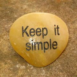 ENGRAVED INSPIRATION STONE - RIVER STONE - KEEP IT SIMPLE