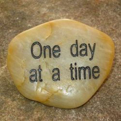 ENGRAVED INSPIRATION STONE - RIVER STONE - ONE DAY AT A TIME