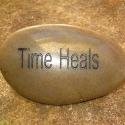 ENGRAVED INSPIRATION STONE - RIVER STONE - TIME HEALS
