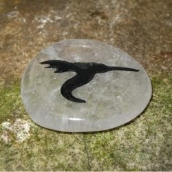 ENGRAVED TOTEM STONE - SEMI-PRECIOUS GEMSTONE - HUMMINGBIRD (JOY, MAGIC)