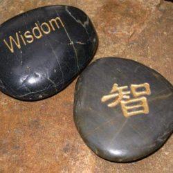 Engraved Kanji Stones